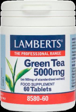 Lamberts Green Tea 5000mg, 60 Ταμπλέτες