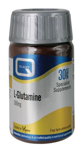 Quest L-Glutamine 500mg 30 Κάψουλες