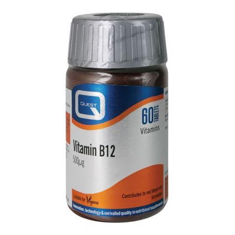 Quest Vitamin B12 500mg, 60 Ταμπλέτες