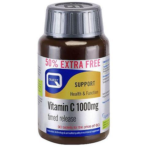 Quest Vitamin C 1000mg 60 Ταμπλέτες & 30 Δώρo
