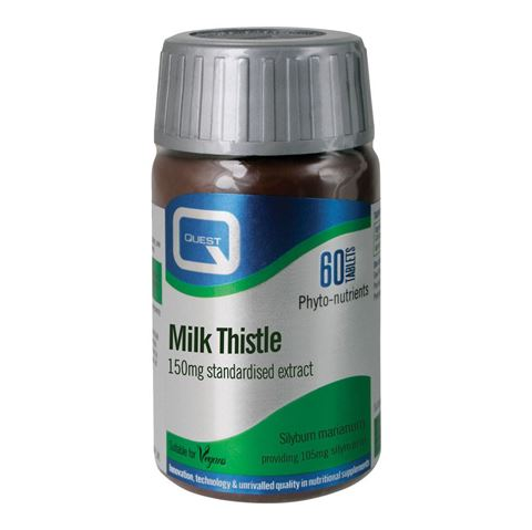 Quest Milk Thistle 150mg Extract 60 Ταμπλέτες