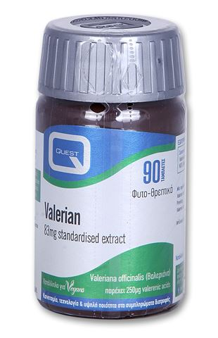 Quest Valerian Extract 83mg 90 Ταμπλέτες