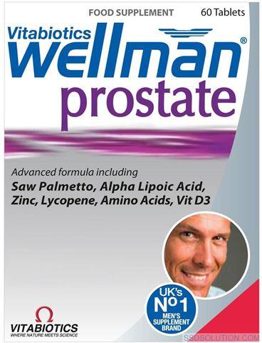Vitabiotics Wellman Prostace 60 Ταμπλέτες