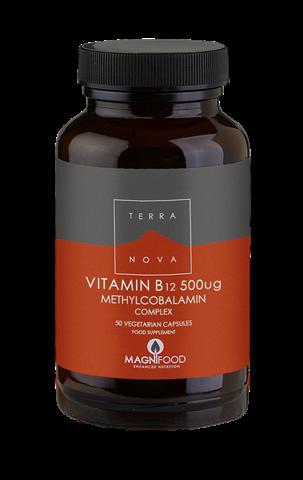 Terranova Vitamin Β12 500mg Complex 50 Κάψουλες