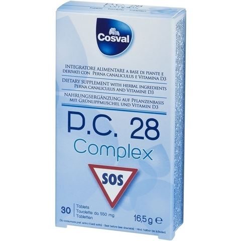 Cosval P.C.28 Complex, 30 Μασώμενες Ταμπλέτες