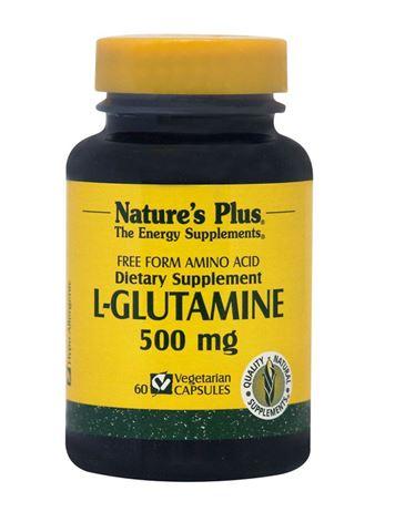 Nature's Plus L-Glutamine 500MG, 60 Φυτικές Κάψουλες