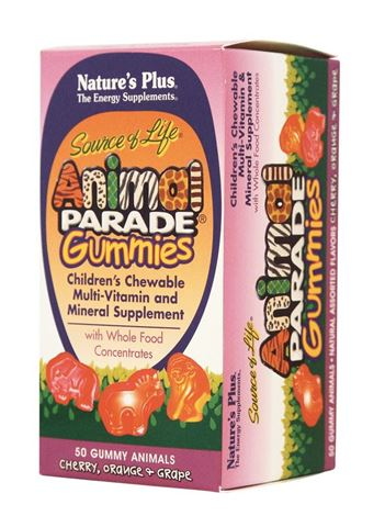 Nature's Plus Animal Parade Gummies 50 ζελεδάκια Άνω των 4 Ετών