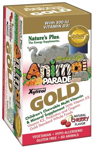 Nature's Plus Animal Parade Gold Κεράσι 60 μασώμενες ταμπλέτες