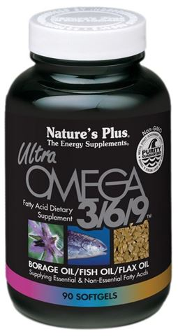 Nature's Plus Ultra Omega 3/6/9 1200mg, 90 μαλακές κάψουλες