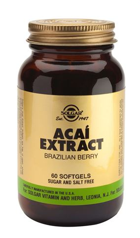Solgar Acai Extract 60 Μαλακές Κάψουλες