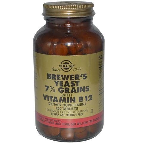 Solgar Brewer's Yeast with Vitamin B-12, 250 Ταμπλέτες