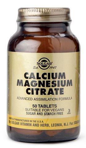 Solgar Calcium Magnesium Citrate 50 Ταμπλέτες