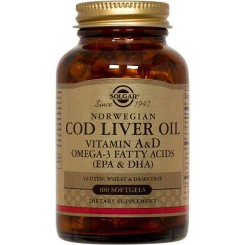 Solgar Cod Liver Oil, 100 Μαλακές Κάψουλες