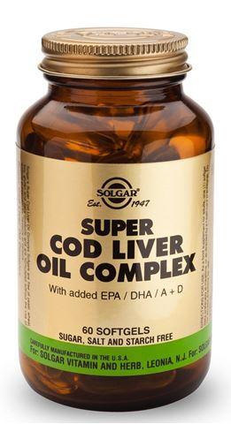 Solgar Super Cod Liver Oil Complex, 60 Μαλακές Κάψουλες
