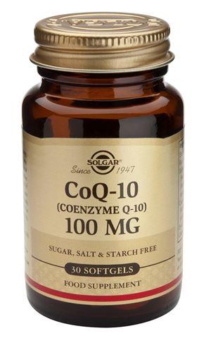 Solgar Coenzyme Q-10, 100mg, 30 Μαλακές Κάψουλες