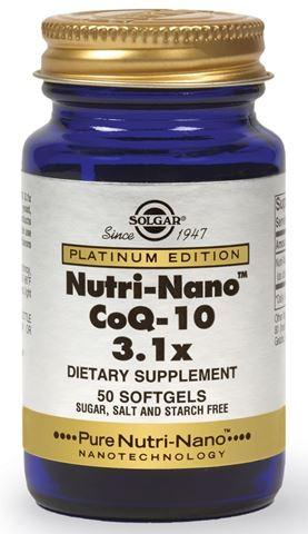 Solgar Nutri-Nano CoQ-10 3,1x, 50 Μαλακές Κάψουλες