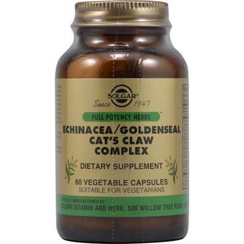 Solgar Echinacea/ Goldenseal/ Cat's Claw Complex 60 Φυτικές Κάψουλες