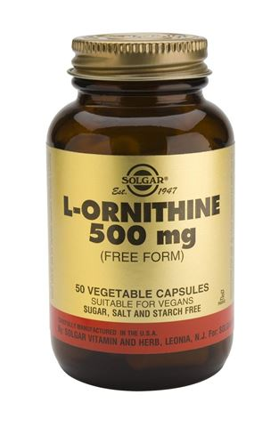 Solgar L-Ornithine 500mg, 50 Φυτικές Κάψουλες
