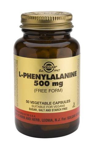 Solgar L-Phenylalanine 500mg, 50 Φυτικές Κάψουλες
