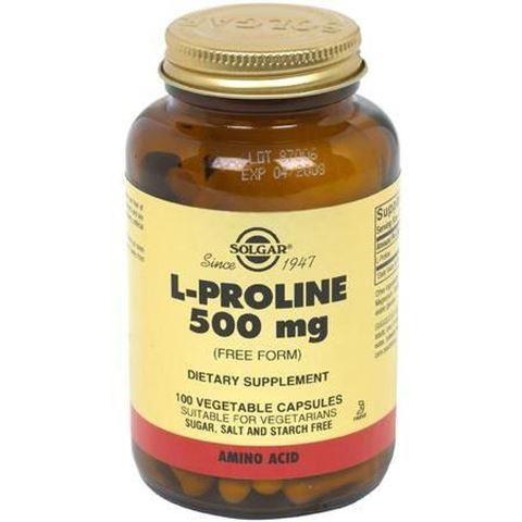 Solgar L-Proline 500mg, 100 Φυτικές Κάψουλες