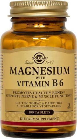 Solgar Magnesium + B6, 100 Ταμπλέτες
