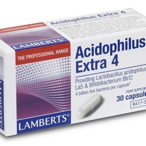 Lamberts Acidophilus Extra 4, 30 Κάψουλες
