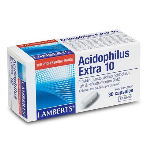 Lamberts Acidophilus Extra 10, 30 Κάψουλες
