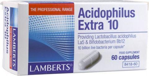 Lamberts Acidophilus Extra 10, 60 Κάψουλες