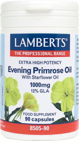 Lamberts Evening Primrose Oil & Starflower Oil 1000mg Extra High Potency 90 Κάψουλες