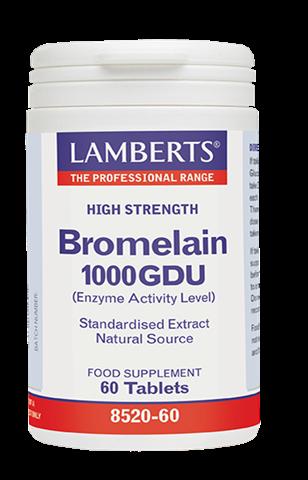 Lamberts Bromelain 1000GDU, 60 Ταμπλέτες