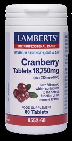 Lamberts Cranberry 60 Ταμπλέτες