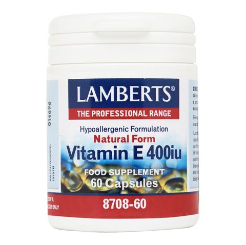 Lamberts Natural Form Vitamin E 400iu, 60 Κάψουλες