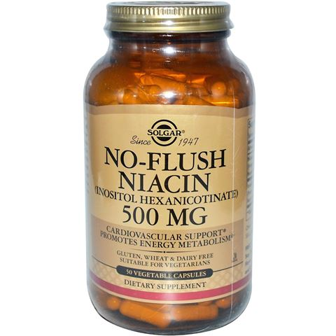 Solgar No-Flush Niacin 500mg, 50 Φυτικές Κάψουλες