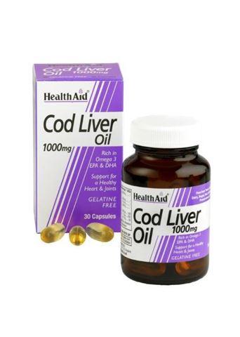 Health Aid Cod Liver Oil - Omega3, Vitamins A & D 30 Κάψουλες