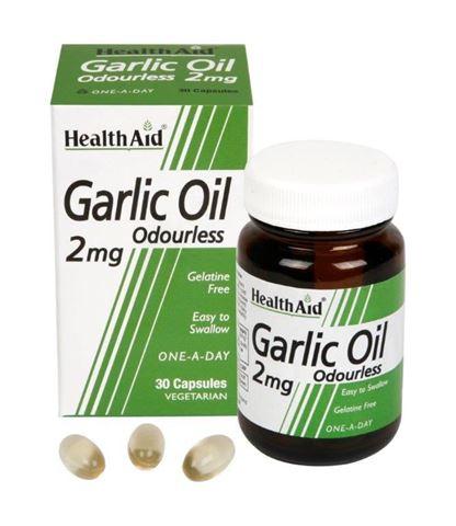 Health Aid Garlic Oil Odourless 30 Κάψουλες