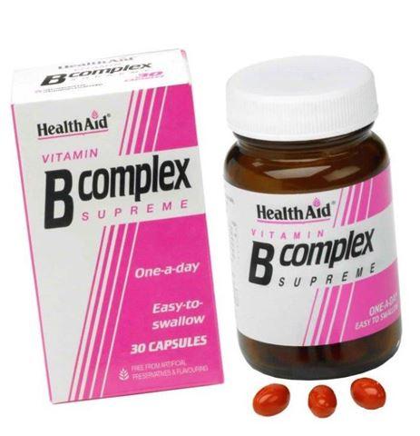 Health Aid Βιταμίνη B Complex Supreme 30 Κάψουλες