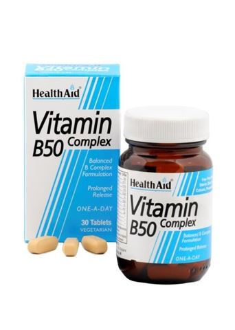 Health Aid Βιταμίνη B 50 Complex, 30 Ταμπλέτες