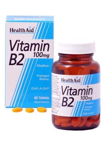 Health Aid Βιταμίνη B2, 60 Ταμπλέτες