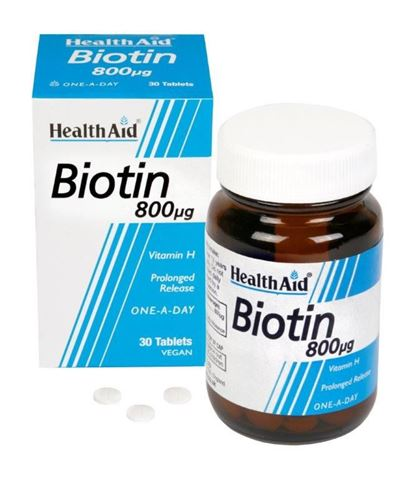 Health Aid Βιοτίνη 800μg, 30 Ταμπλέτες