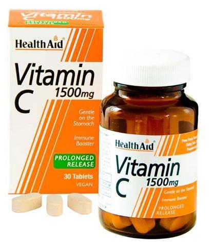 Health Aid Vitamin C 1500mg with Bioflavonoids 30 Ταμπλέτες