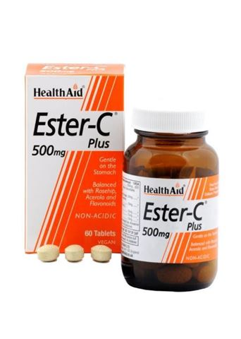 Health Aid Ester - C Plus 500mg with bioflavonoids 60 Ταμπλέτες
