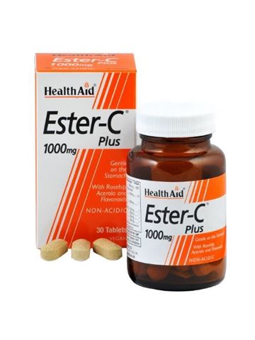 Health Aid Ester - C Plus 1000mg with bioflavonoids 30 Ταμπλέτες