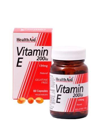 Health Aid Vitamin E 200iu Natural Vegetarian 60 Κάψουλες