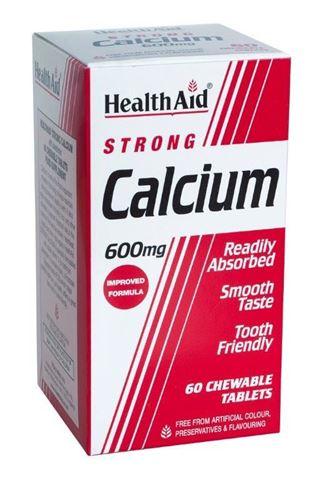 Health Aid Calcium Strong 60 Μασώμενες Ταμπλέτες