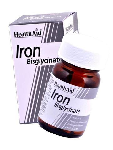 Health Aid Iron Bisglycinate με Βιταμίνη C, 30 Ταμπλέτες