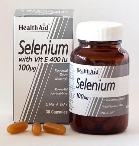 Health Aid Selenium με Βιταμίνη Ε, 30 Κάψουλες
