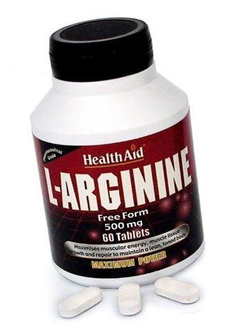 Health Aid L-Arginine 60 Ταμπλέτες