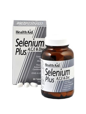 Health Aid Selenium Plus 200μg A,C,E & Zinc 60 Ταμπλέτες