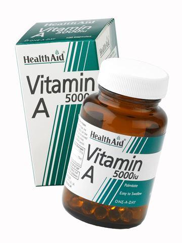 Health Aid Bιταμίνη A 5000 i.u. 100 Ταμπλέτες