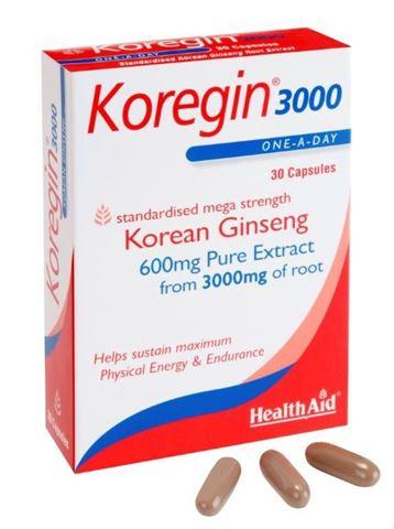 Health Aid Κορεάτικο Tζίνσενγκ 600mg, 30 Κάψουλες